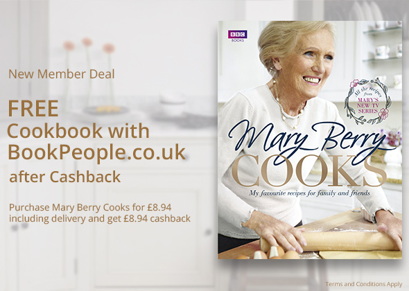Free 'Mary Berry Cooks' Cookbook after Cashback