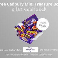 Free Cadbury Mini Treasure Box
