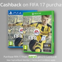 £10 Cashback on FIFA 17 purchases!