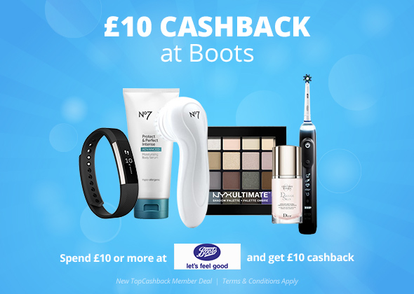 £10 Cashback at Boots