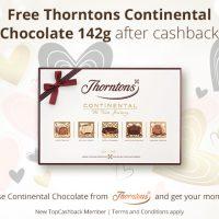 Free Thorntons Continental Chocolates