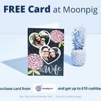 Free Card at Moonpig