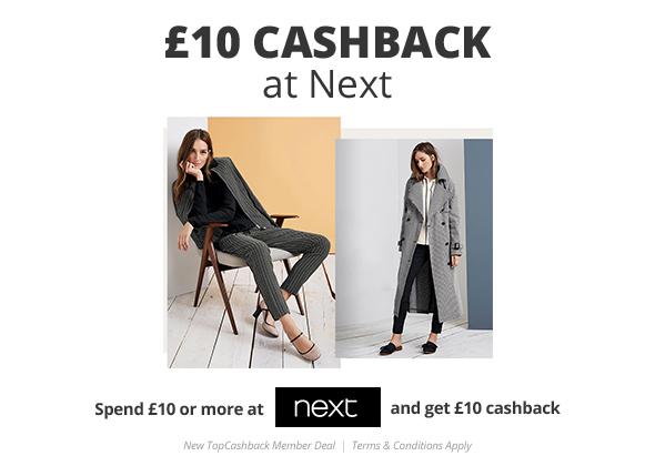 £10 Cashback at Next