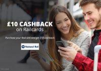 £10 Cashback on Railcards