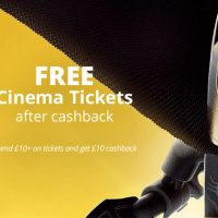 Free Cinema Tickets after Cashback