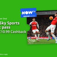 Free Sky Sports Week Pass after Cashback
