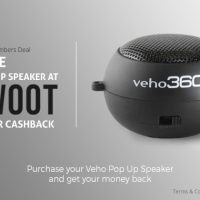 Free Pop Up Speaker at IWOOT after Cashback