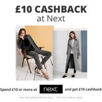 £10 Cashback at Next