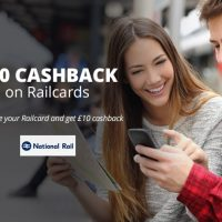 £10 Cashback on Railcards